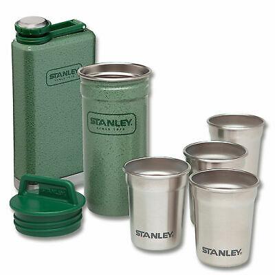 ADVENTURE SHOT GLASS + FLASK SET GREEN