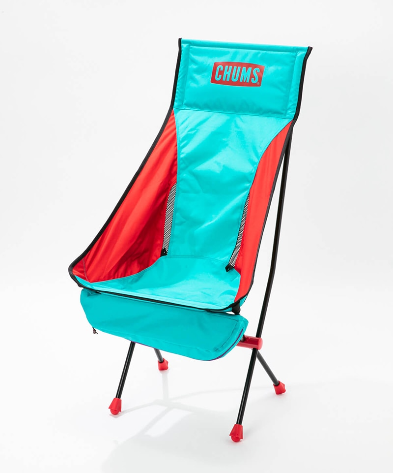 FOLDING CHAIR BOOBY FOOT HIGH (TEAL/RED)